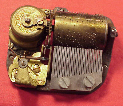 Vintage Reuge Music Box Movement 30mm 30 NOTE PLAYS REVEILLE from a LECOULTRE