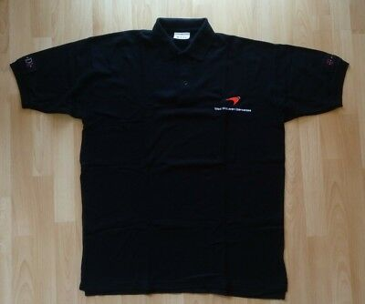 Polo Shirt Formula One Formel 1 West McLaren Mercedes F1 schwarz T-D1 Gr. XL