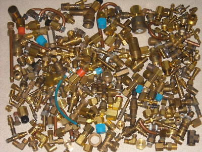 Selection of brass fittings Enots Swagelok imperial USA