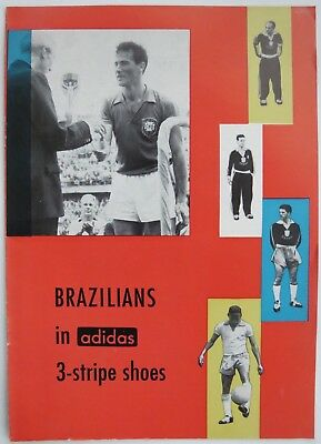 Rare 1950's Adidas1958 World Cup Shoes Soccer Advertising Brochure