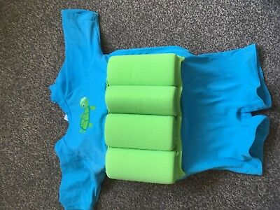 Mothercare 1-2 years swim buoyancy float suit baby toddler blue removable aides