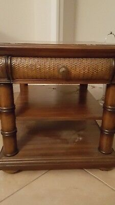 Antique end table with drawer