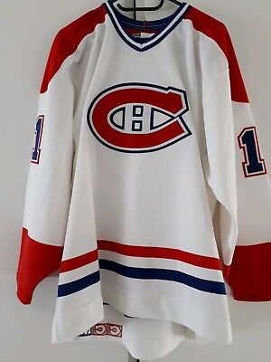 Authentic on ice NHL Trikot Jersey Montreal Canadiens Fight Strap 48