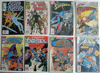 Vintage misc DC and Marvel comics - Superman, Batman, Action - lot of 8 books