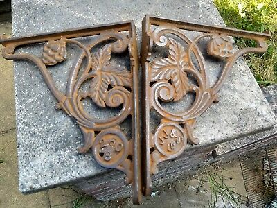 Genuine Victorian Cast Iron Cistern Shelf Brackets