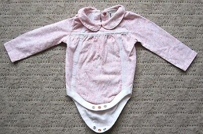 Monsoon Baby Girl'S Long Sleeve Bodysuit Age 6-9 Months Main Col. Pink