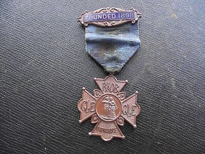 Vintage 1924 David Thomas Raob Buffaloes Life Subscribers Orphanage Medal & Bar