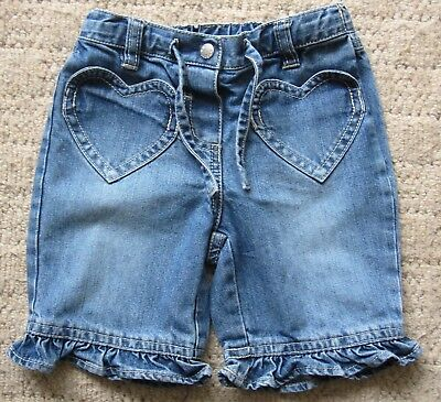 Baby Girls Mini Boden Blue Denim Shorts Age 18-24 Months