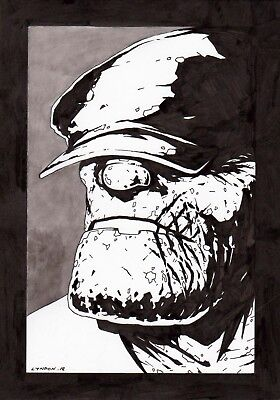 The Goon. Original art. Eric Powell inspired.