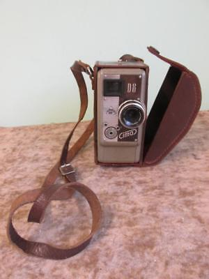 Vintage Cima D8 Cima Camera In Brown Leather Case And Strap