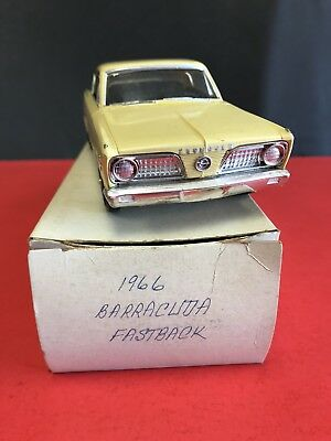 1966 Amt Plymouth Barracuda Fastback Dealer Promo Yellow Nice