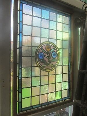 Large Matching Pair Of Stained Glass Windows
