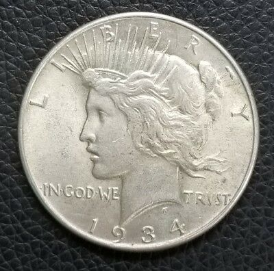 1934 US Silver Peace Dollar **XF Condition** - US Coins [SC155]