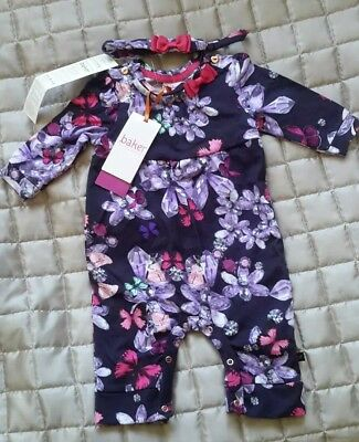 Ted Baker Baby Girl Romper Play Bodysuit Outfit Age 0-3 Months Babygrow RRP £20