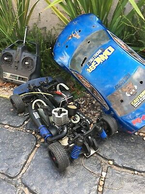 House Clearance Attic Find Rare Radio Control Thunder Tiger Rc Nitro Car Project