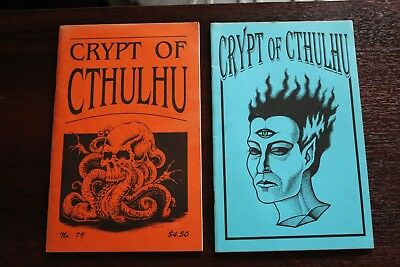 Crypt Of Cthulhu 2 issues 79 + 1  Tales Of Cthulhu, H P Lovecraft 1980s