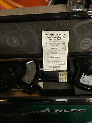 Columbia Electric Tong Test Ammeter, A.C or D.C, 0-500 AMPS, W/ CASE