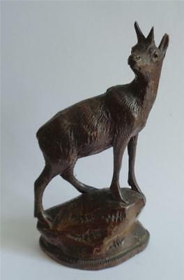 Antique Black Forest Carved Chamois Goat 5.5""