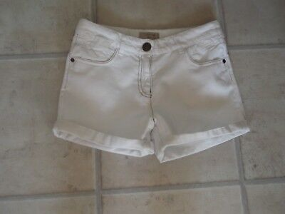 Next White Cotton Shorts, Age 12 Years, Excellent Condition