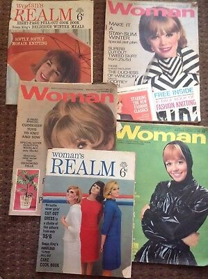5 Vintage Woman's Realm and Woman Magazines : 1966 and 1968