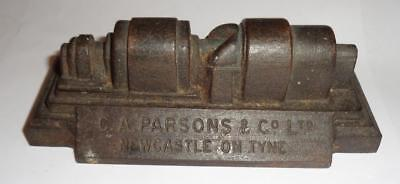 1938 Glasgow Scottish Empire Exhibition Cast Iron Turbine Model C A Parsons & Co
