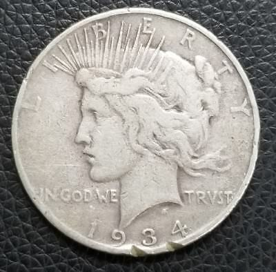 1934-S US Silver Peace Dollar - US Coins [SC171]