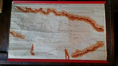 An Unusual Large Vintage Hand Drawn Map / Plan Karaman Soghla Reclamation Turkey