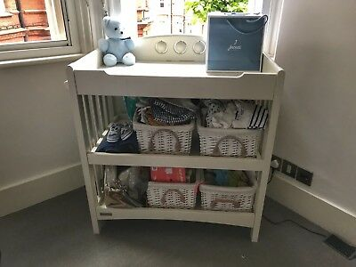 Mamas and Papas white baby changing table 2 shelves *baskets not included*