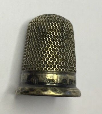 Solid Silver Thimble 1895 Charles Horner Chester Great Example