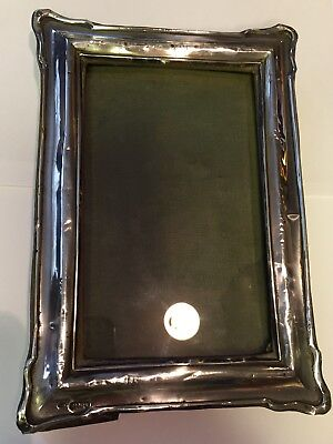 Solid Silver Photo Frame 1915 Samuel M Levi Birmingham Ww1 Era