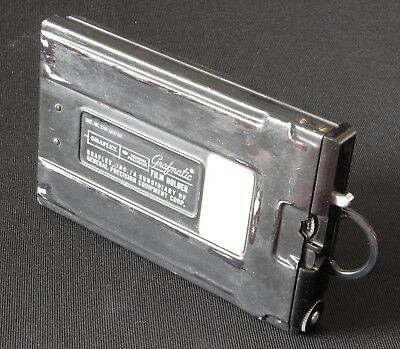 "👉Graflex Grafmatic 4x5"" 6-shot semi-automatic cut film cassette for Linhof etc."
