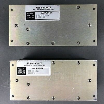 (1) Mini-Circuits Amplifier ZHL-42 SMA, 50Ω, 600 to 4200 MHz
