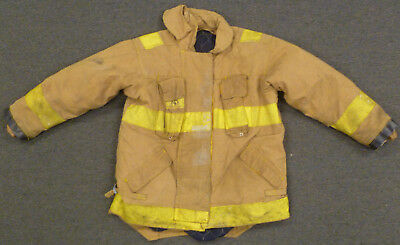 48x36 Firefighter Jacket Coat Bunker Turn Out Gear Brown Morning Pride J604
