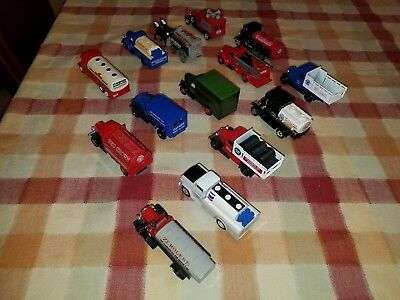 Chevron Lot  Diecast Trucks - 14 Total - Perfect For Train Set! Made in England