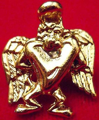 Looney Tunes Tazmanian Devil Guardian Angel Pin in Gold Plate, Made in USA, NEW