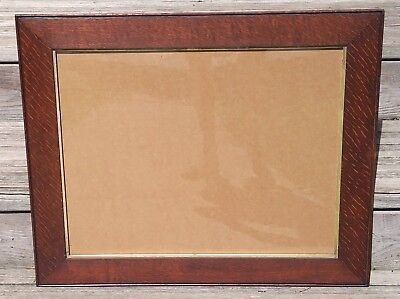 Mission Oak Picture Frame Arts & Crafts Plein Air Nice Fumed Quartersawn Grain