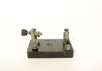 1916 Jove Crystal Radio Detector With Articulated Ball Joint Arm * Signed