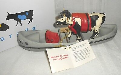 2001 Westland Giftware Cow Parade Resin Moovin' On Down The Mighty Mo #9138