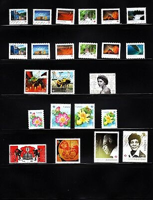 Canada 2018 - Very Recent Postally Used Collection Of 23 Stamps!