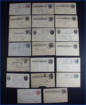 20 Vintage Brewery Related Business Post Card Correspondences Dr. Rach 1902-1925