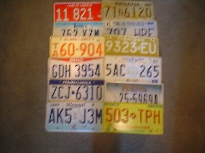 Lot Of 12 Us License Plates       Buy All States Here