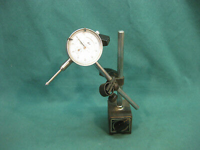 """MACHINIST MAGNETIC BASE WITH ENCO No.605-4070 .001"""" DIAL INDICATOR"""