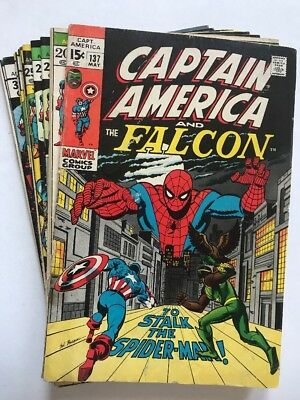 CAPTAIN AMERICA #137-222 Lot Of (13) Issues, Marvel (1971-'78) Kirby Issues