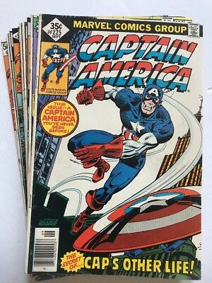 CAPTAIN AMERICA #225-252 Lot Of (10) Issues, Marvel (1978-'80)