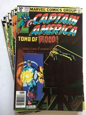 CAPTAIN AMERICA #253-269 Lot Of (10) Issues, Marvel (1980-'81)
