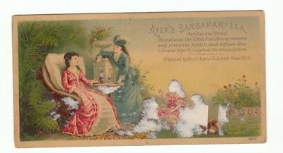 Vintage TC Trade Card Ayer's Sarsaparilla Compound Extract Purifies the Blood!