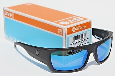 62af9e6307c38 SPY OPTICS Rover POLARIZED Sunglasses Matte Black Happy Gray Blue Spectra  NEW