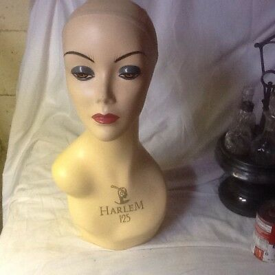 60'S Vintg Hess Department Store Harlem 125 Wig Display Head Jewelry Mannequin