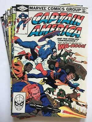 CAPTAIN AMERICA #273-286 Lot Of (10) Issues, Marvel (1982-'83)