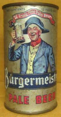 BURGERMEISTER PALE BEER USBC46-31 Flat Top CAN, 1 FACE CAN, S.F, CALIFORNIA 1954
